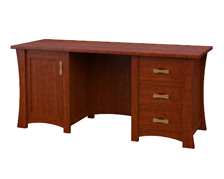 Zen Executive Desk in Dakota Maple