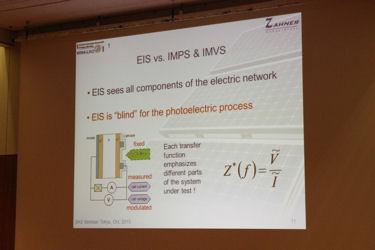 「Photoelectrochemistry」 ZAHNER社 Dr. Charly Schiller