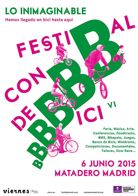 FestiBal con B de Bici, sábado 6 de junio en Matadero Madrid