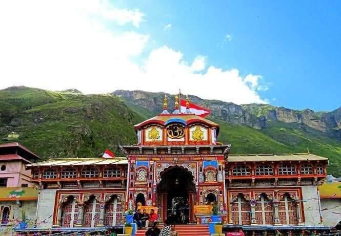 Badrinarayan or Badrinath  Temple , Chamoli Dist. UTTARAKHAND. ⚜🔱⚜🔱⚜🔱⚜🔱
