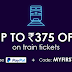 RailYatri Train Ticket Offer - Get Flat 75₹ Off + Additional 50% Cashback via PayPal