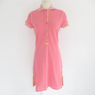 Bluemarine Cotton Pink Pique Shirt Dress