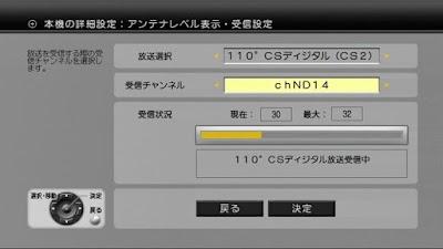 アッテネータを作動後のND-14のDT400でのアンテナレベル