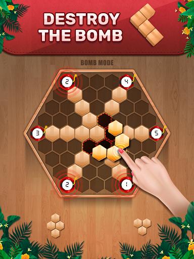 Wooden 100 Block Puzzle: Wood Hexa Star Gem apktram screenshots 11