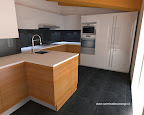 cucina Valcucine in provincia di Bergamo, Lombardia, zona lavello e cottura con forno microonde e frigoriferi.jpg