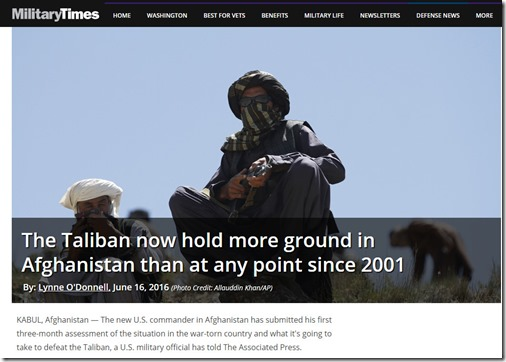 Miltary times Taliban control