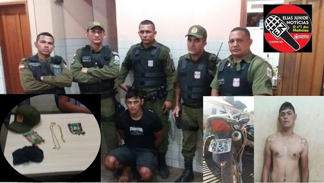 Santarém/PA: Depois de praticarem assalto no Bairro São José Operário dupla acaba nas mãos da PM