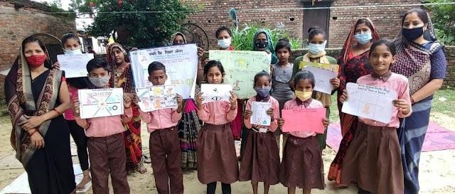 पोस्टर व चित्रकला के माध्यम से संचारी रोगों के प्रति किया जागरूक