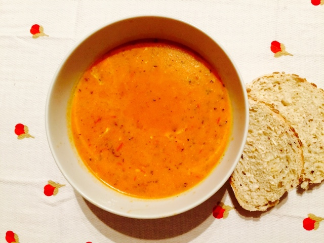 Provencal tomato soup with cream cheese