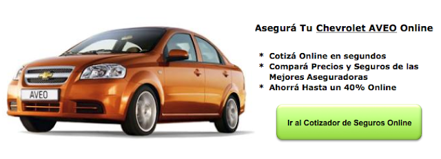 Seguros De Auto Para Chevrolet Aveo