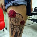 leg red roses - Indian Tattoos