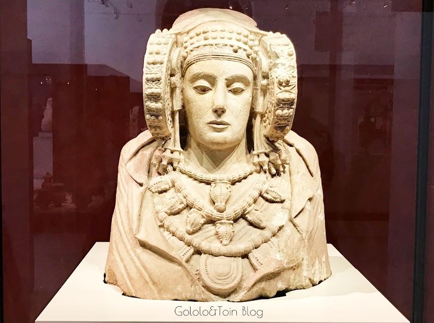 La dama de Elche en el museo arqueológico nacional