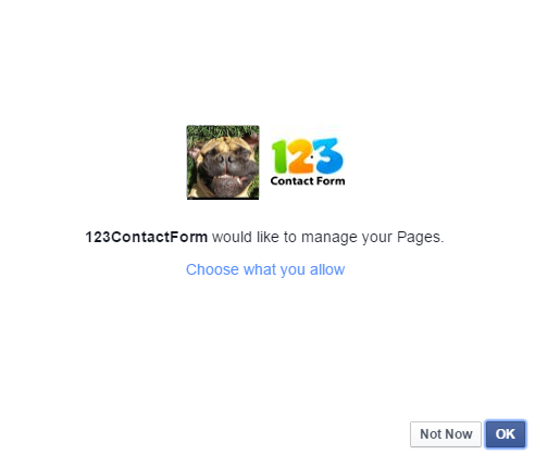 add forms to Facebook