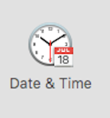 Date  Time preference pane