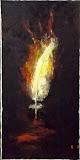 upadek Świetlistego, olej, płótno, szpachla, 40/80 cm