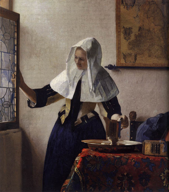 Johannes Vermeer - Young Woman with a Water Pitcher