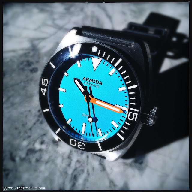 Armida A7 stainless steel blue dial