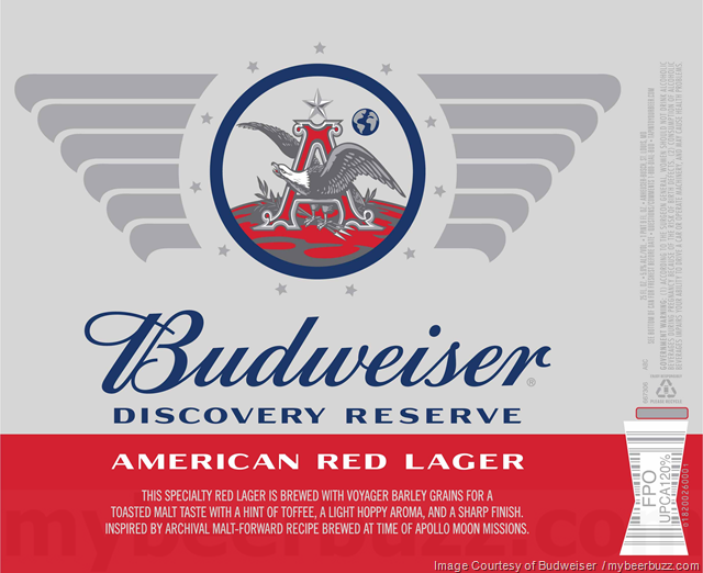 Budweiser Updating Discovery Reserve American Red Lager