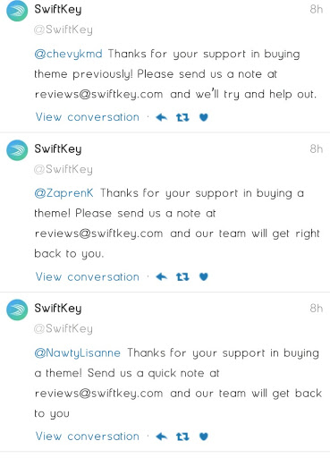 All SwiftKey Themes Are Now Free, Some Users Request For Refund 2