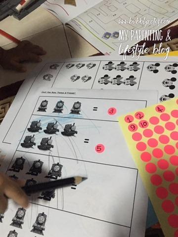 Homeschooling Activities_Idea Matematik Mudah Menggunakan Pelekat 8