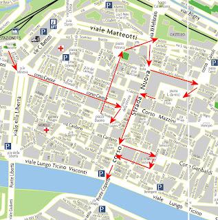 itinerario Pavia