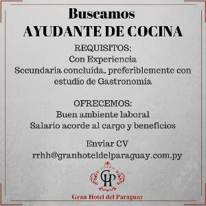Se necesita ayudante de cocina bolsa de trabajo paraguay empleos - Busco trabajo de ayudante de cocina ...