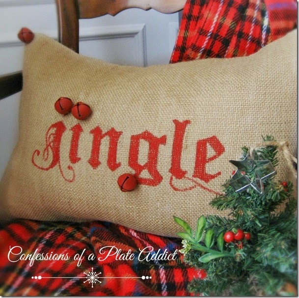 CONFESSIONS OF A PLATE ADDICT Potttery Barn Inspired Jingle Pillow