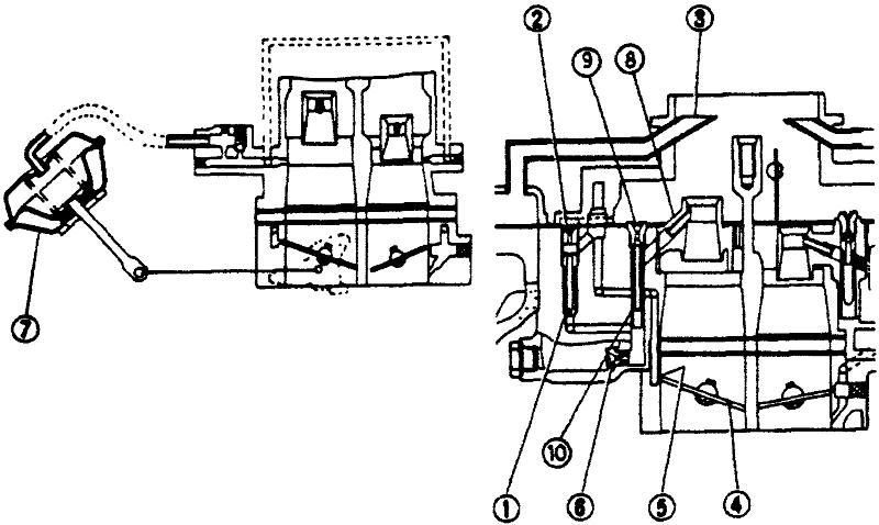 Схема дозирующей системы вторичной камеры