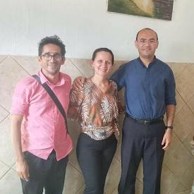 Prefeita Eleita Josilda Macena PSDB , se encontra com Pe. Fabiano em Araçagi PB
