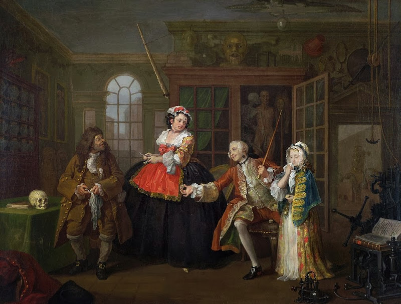 William Hogarth - Marriage A-la-Mode 3 The Inspection