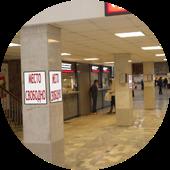 Постеры-рамки на вокзале