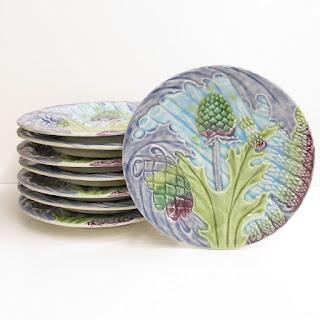 Au Bain Marie Artichoke & Asparagus Plate Set