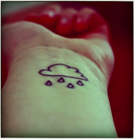 small Cloud tattoo on wrist