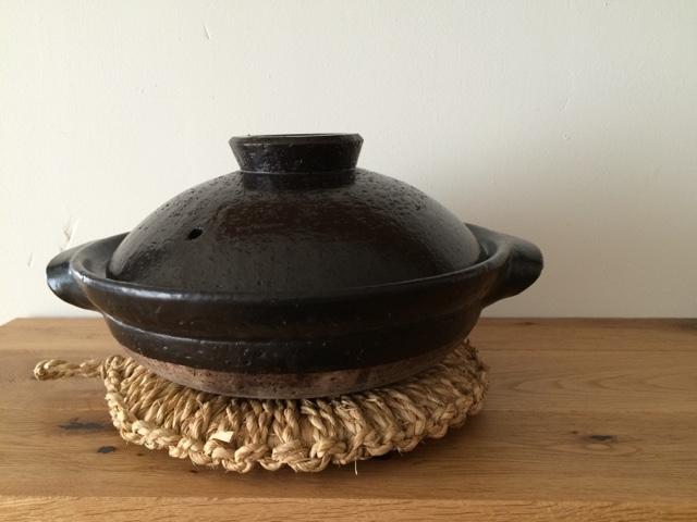 『無印良品 伊賀焼土鍋・黒釉と瀬戸焼土鍋用蒸し皿』