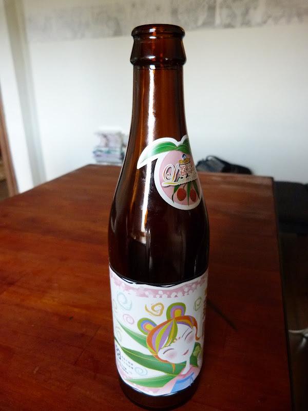 Bière Taiwanaise parfumée au lichee,super