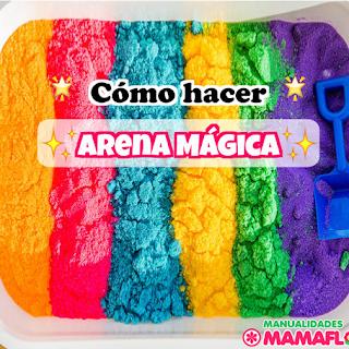 Como hacer masa de Arena Mágica Casera