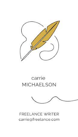 Michaelson Freelance Writer - Business Card item