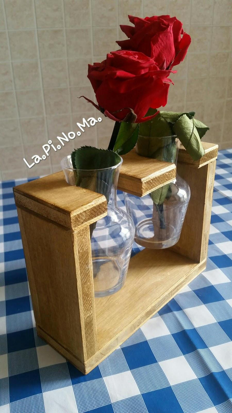 La pi no ma idee in vaso messaggi pirografati e idee for Portavasi in legno