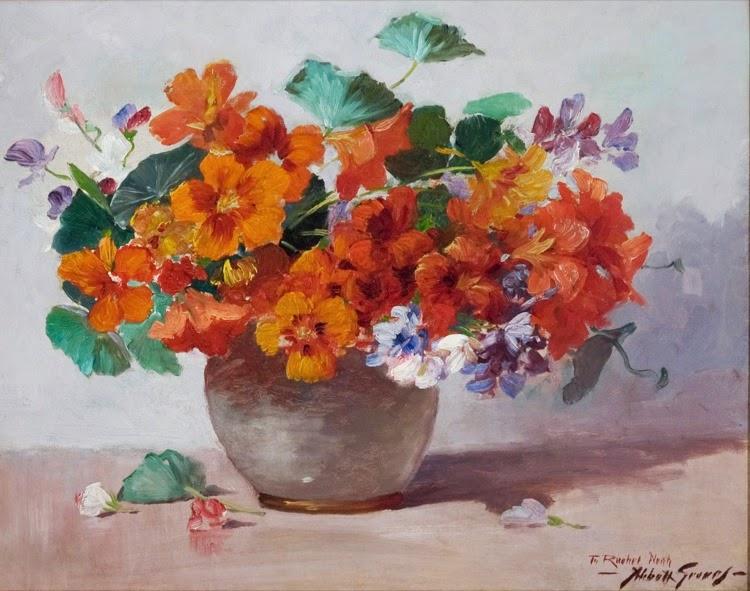 Abbott Fuller Graves - A Vase of Nasturtiums