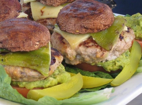 Mushroom Topped Southwest Turkey Burger Recipe