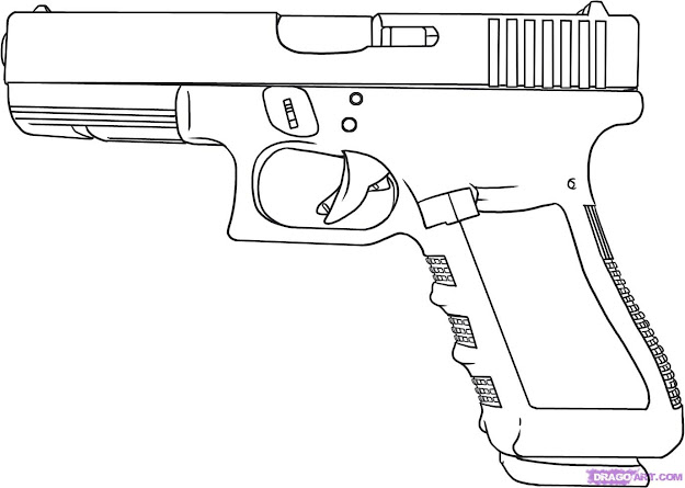 Rifle Coloring Pages