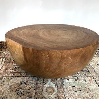 Solid Wood Half-Sphere Coffee Table