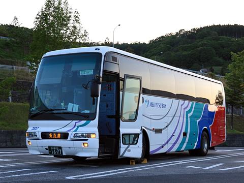 名鉄バス「名古屋~新潟線」 2607 姨捨SAにて