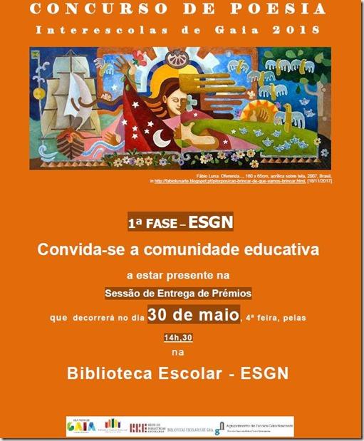 cartaz entrega prémios BE-ESGN