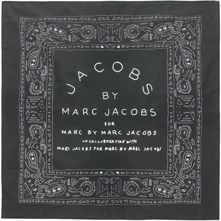 Marc by Marc Jacobs Washed Black Bandana Classic