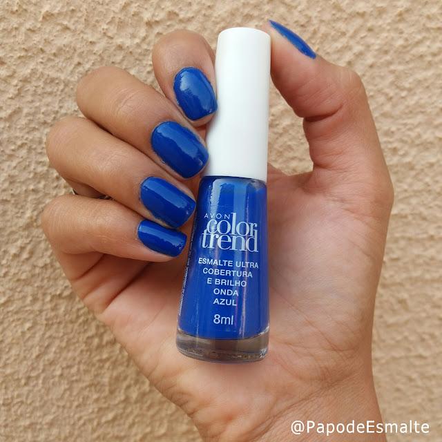 Esmalte da Vez: Onda Azul - Avon Color Trend