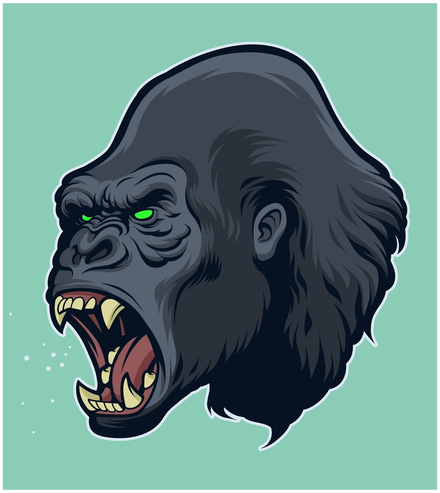 Angry Gorilla Head.jpg Free Download Vector CDR, AI, EPS and PNG Formats