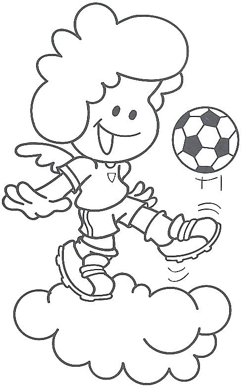 Angel con balon para colorear