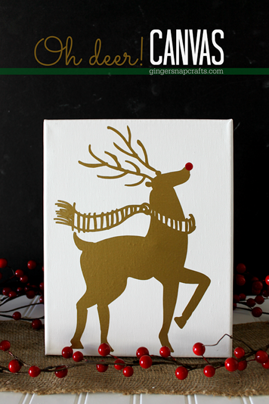 Oh Deer! Canvas at GingerSnapCrafts.com #Silhouette #SilhouetteRocks #Christmas #crafts_thumb