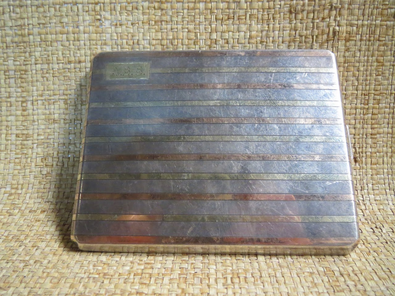 14K Gold and Sterling Silver Cigarette Case